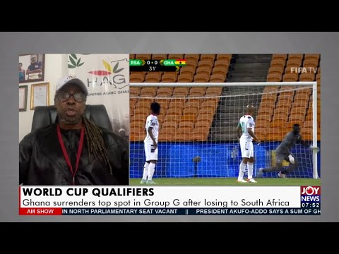 World CUP Qualifiers: Ghana surrenders top spot in Group G after losing to South Africa  (7-9-21)