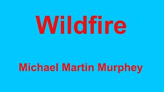 Wildfire  - Michael Martin Murphey - with lyrics