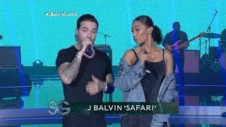 """J Balvin canta """"Safari"""" ft. BIA en vivo - Susana Gimenez"""