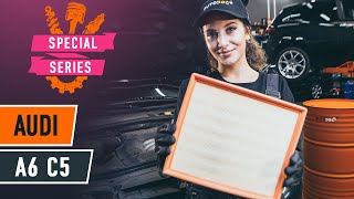 How to change Air Filter on AUDI A6 Avant (4B5, C5) - online free video