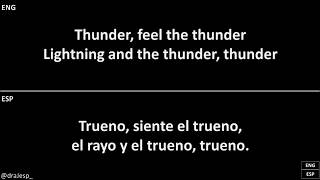 Thunder - Imagine Dragons (Karaoke) Español English Sub