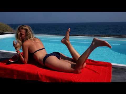 Vilebrequin X Wallpaper Poolside 365 with Marie von Behrens in Santorini