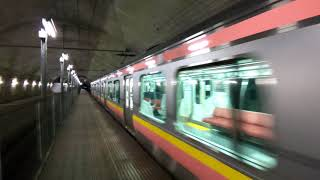 地下に響き渡るモーター音!E129系土合駅を発車!