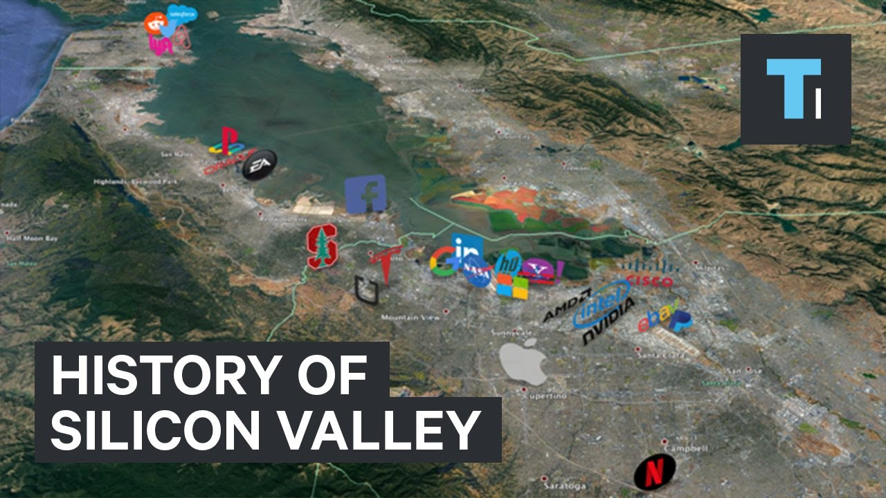 Silicon Valley Karte.Animated Timeline Shows How Silicon Valley Became A 2 8 Trillion Neighborhood