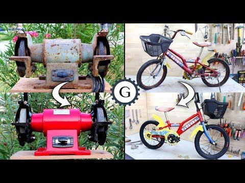 Bicycle & Bench Grinder Restoration Time Lapse thumbnail