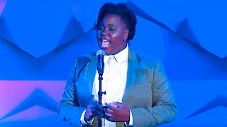 alex newell performs mariah careys hero at the 27th annual glaadawards