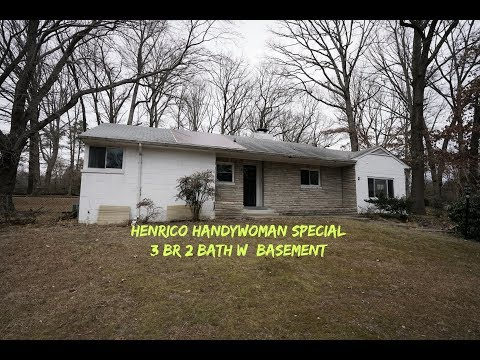 N. Henrico VA Home for Sale 3BR 2BA Ready for Your Touch
