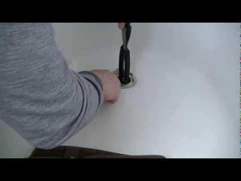 How To Remove a Bathtub Drain With Broken Cross Members and Install New Drain