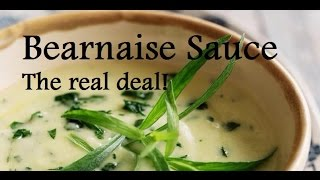 Authentic Bearnaise Sauce -  Bearnaise tutorial -  Step by step french recipe
