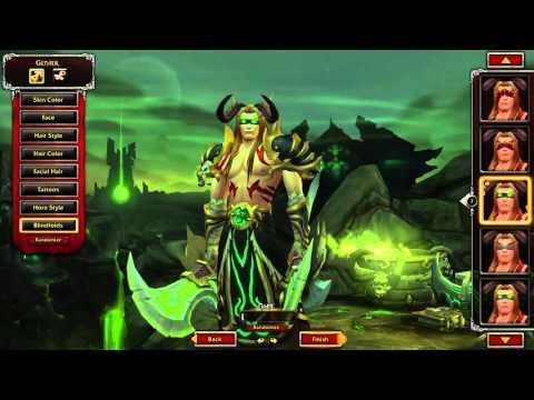 Blood Elf Demon Hunter character creation | World of Warcraft: Legion