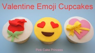 Emoji Cupcakes for Valentine