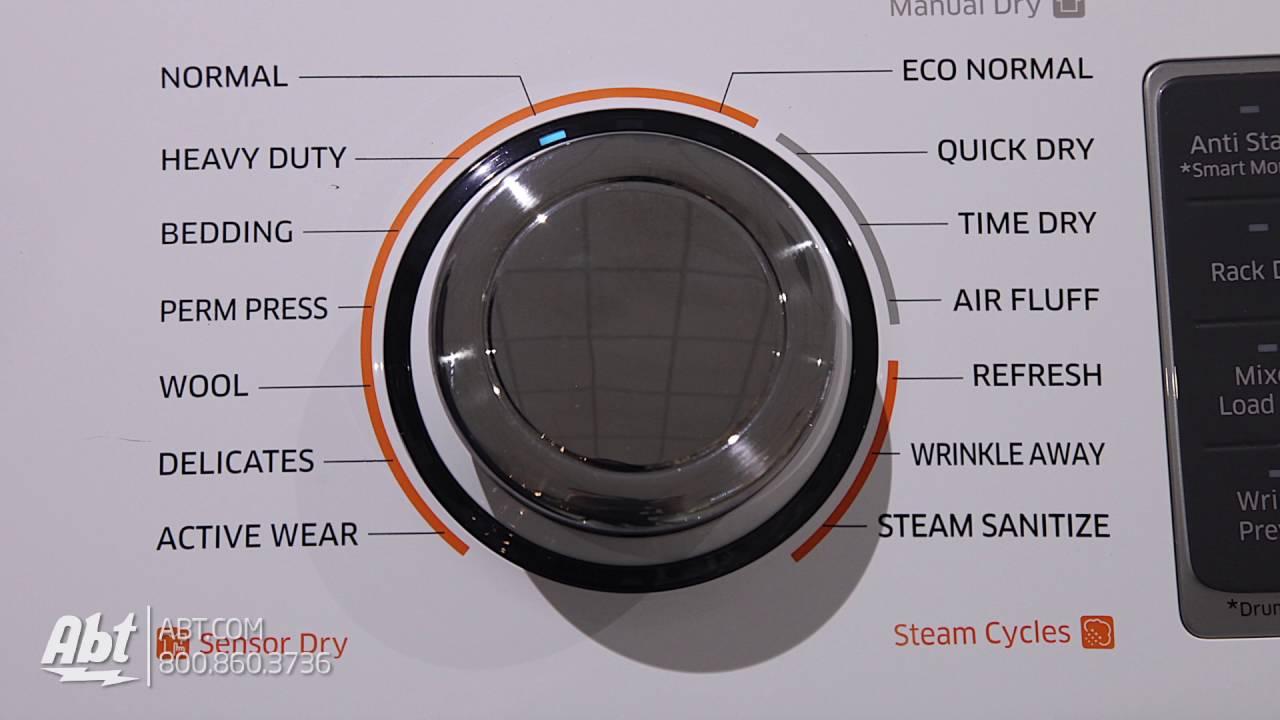 Samsung White Gas Steam Dryer DV50K7500GW Overview YouTube