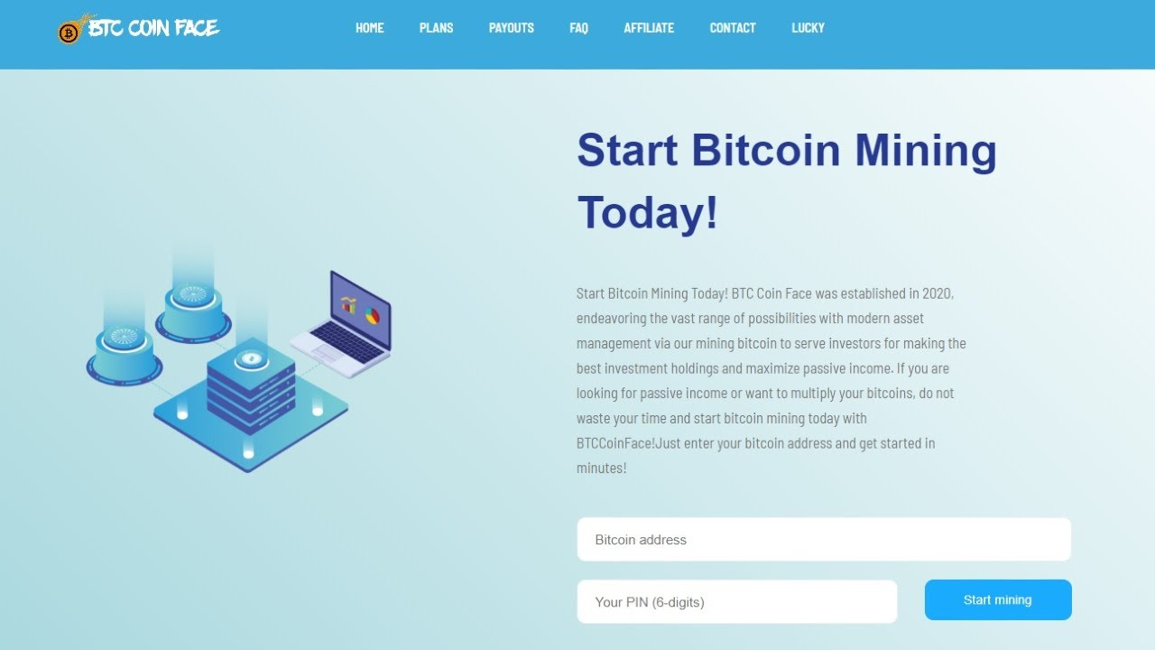 BTC Coin Face - Free Bitcoin Cloud Mining Site 2020 I Earn 0.002 Bitcoin Daily I Live Proof chords | Guitaa.com