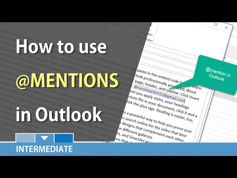 Using Mentions in Outlook by Chris Menard