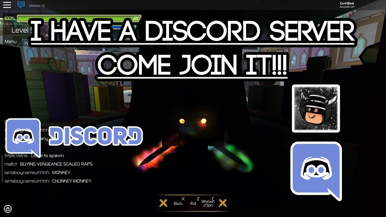 [Roblox Swordburst 2] Join my Youtube Channel's Discord Server!!