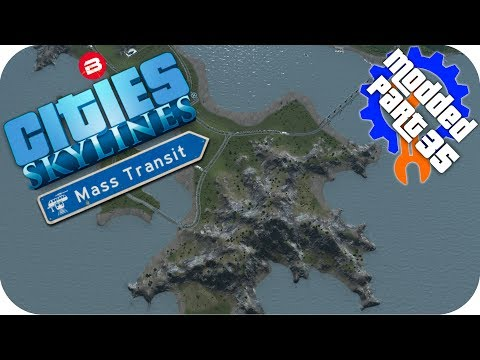 Cities Skylines Gameplay: NEW ISLAND TRANSPORT INFRASTRUCTURE Cities: Skylines Mods MASS TRANSIT #35