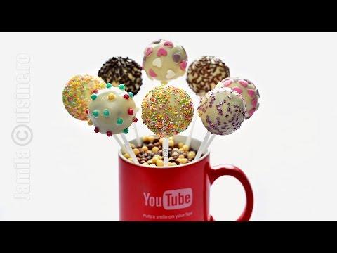 Cake pops pas cu pas   How To Make Cake Pops (CC Eng Sub)   JamilaCuisine