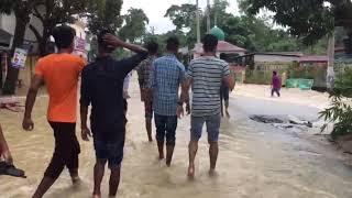 মৌলভী বাজার বন্যা কবলিত এলাকা 2018