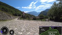 Cycling Video for Indoor Bike Training 75 Minute Alps Italy 4K Ultra HD Garmin Video