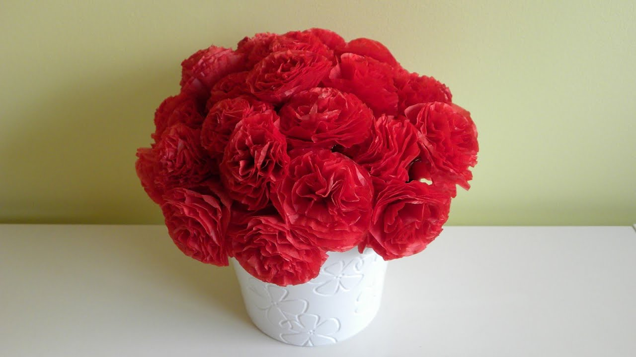 Flores de papel viyoutube for Rosas de papel