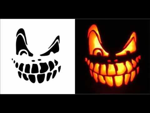 Halloween Pumpkin Carving Patterns Ideas Stencils Templates Free