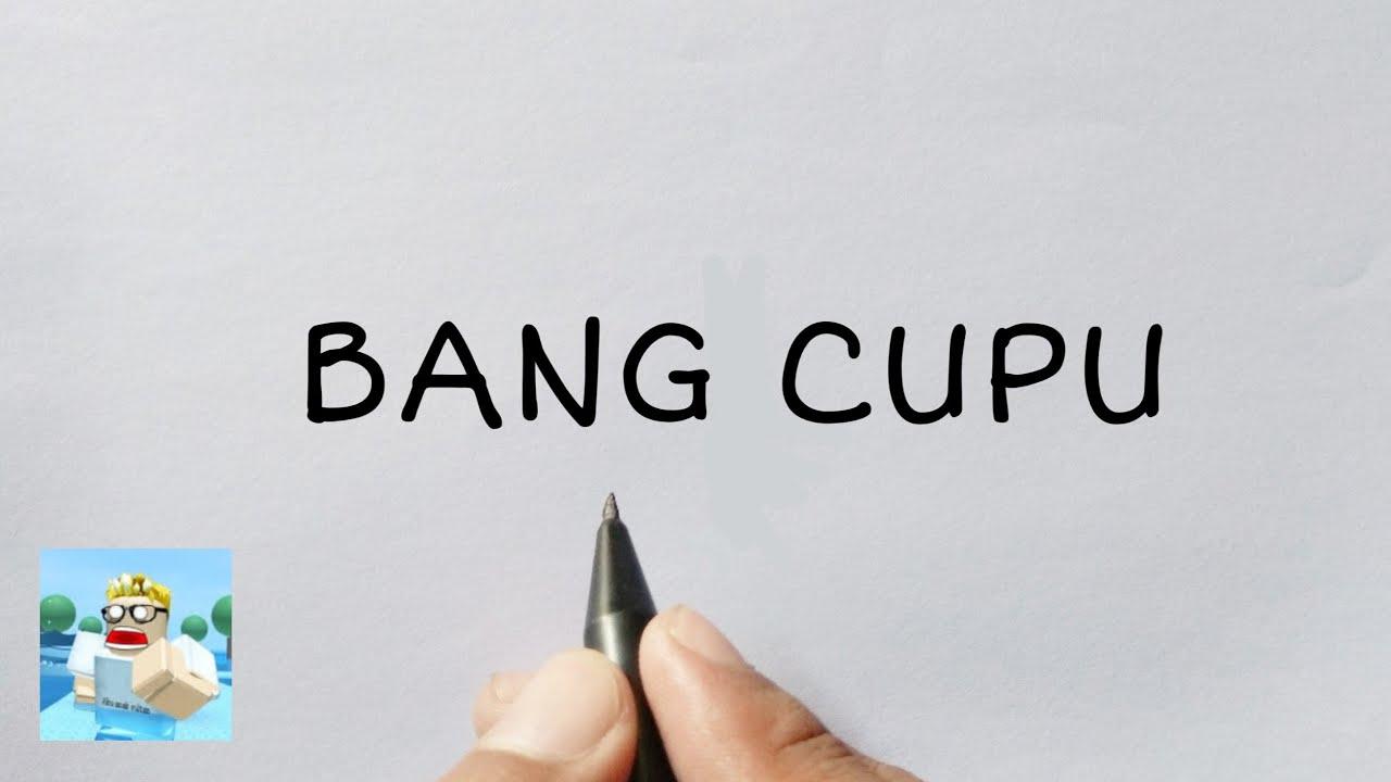 MANCAAAP, kata CUPU menjadi gambar roblox BANG CUPU & MIKOCIL