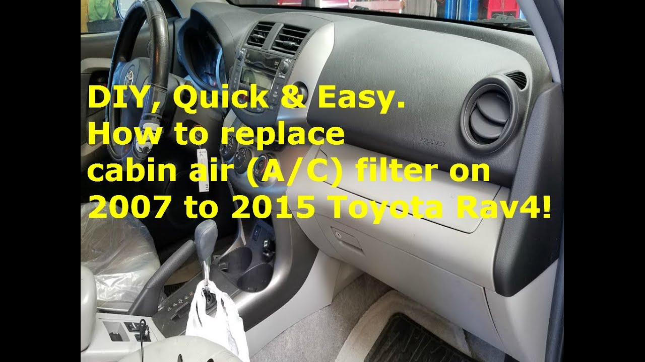 DIY,How To Replace Cabin Air Filter On 2007 To 2015 Toyota Rav4
