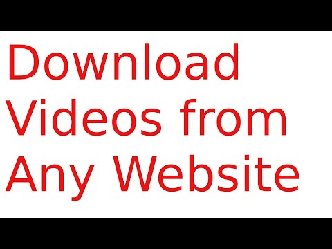Download online videos from any website
