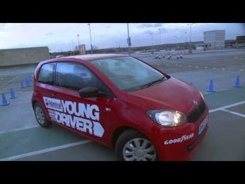 Reece Buttery from BBC's Gangsta Granny has a Admiral Young Driver lesson