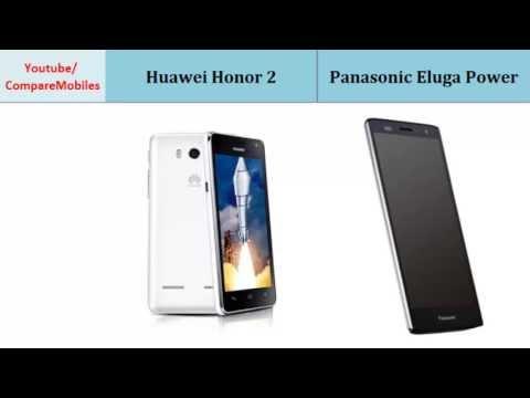 Huawei Honor 2 and Panasonic Eluga Power, compared with
