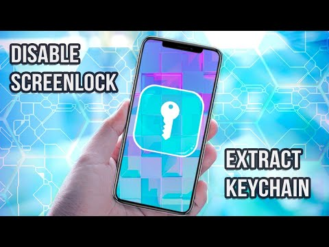 Unlock IPhone X: Disable Screenlock And Extract Keychain Items