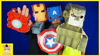 Superhero Fun Life! Marvel Superhero Avengers Paper Toys Fun Play For Kids | MariAndKids Toys