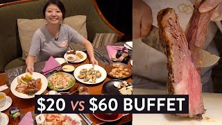 $20 VS $60 BUFFET in Manila, PHILIPPINES ?! All You Can Eat SPIRAL & VIKINGS Buffet Review