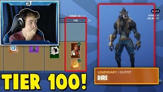 SEASON 6 - Unlocking ALL 100 Tiers! (Battle Pass Update - Fortnite)