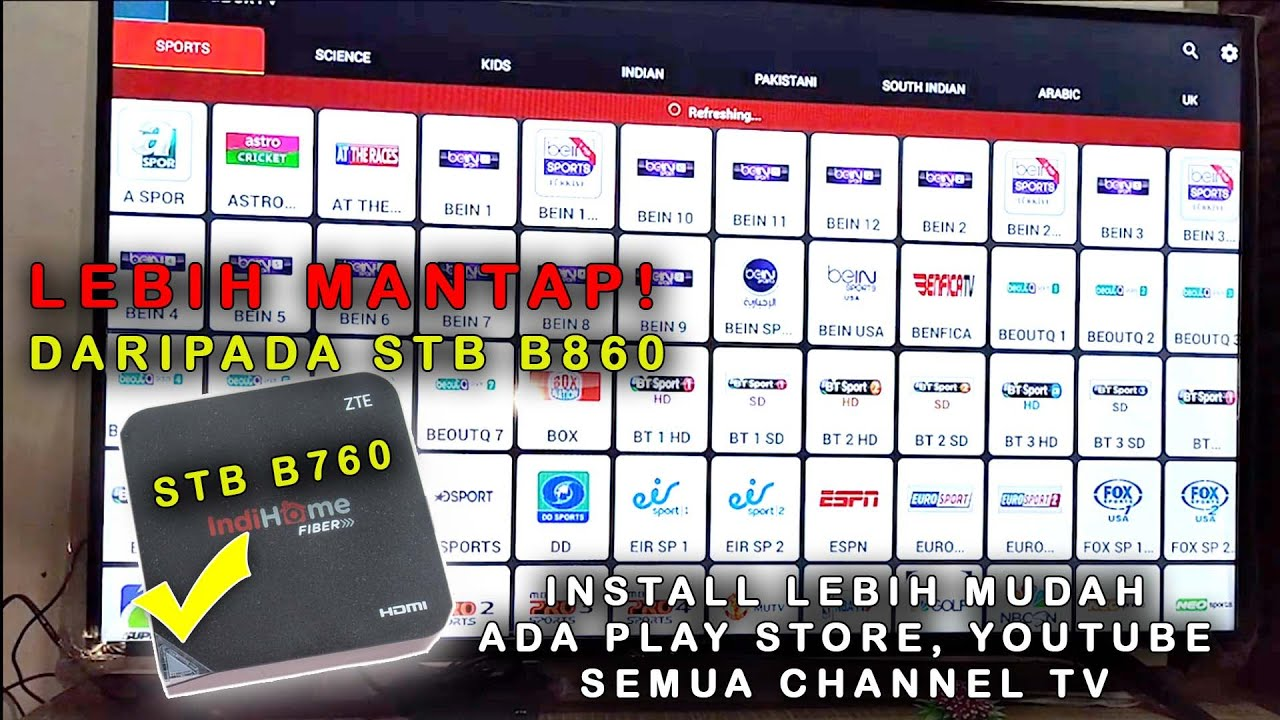 Cara Paling Mudah Root Stb Indihome Zte B760h Ada Playstore Youtube All Channel Tv Youtube