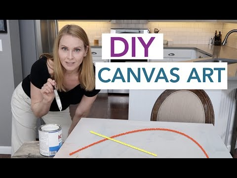 DIY Canvas Art Budget Room Decor | Design Time