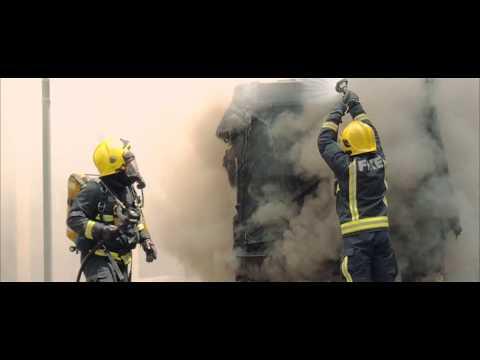 Fire on Gresham Street, City of London