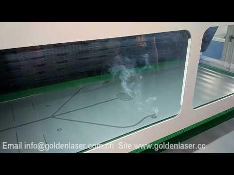Yoga mat laser engraving
