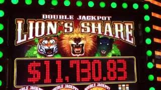 Double Jackpot LIONS SHARE ✦Live Play✦ Slot Machine Pokie at San Manuel, SoCal