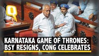 Karnataka Game Of Thrones: BSY Resigns, Congress-JD(S) Celebrate