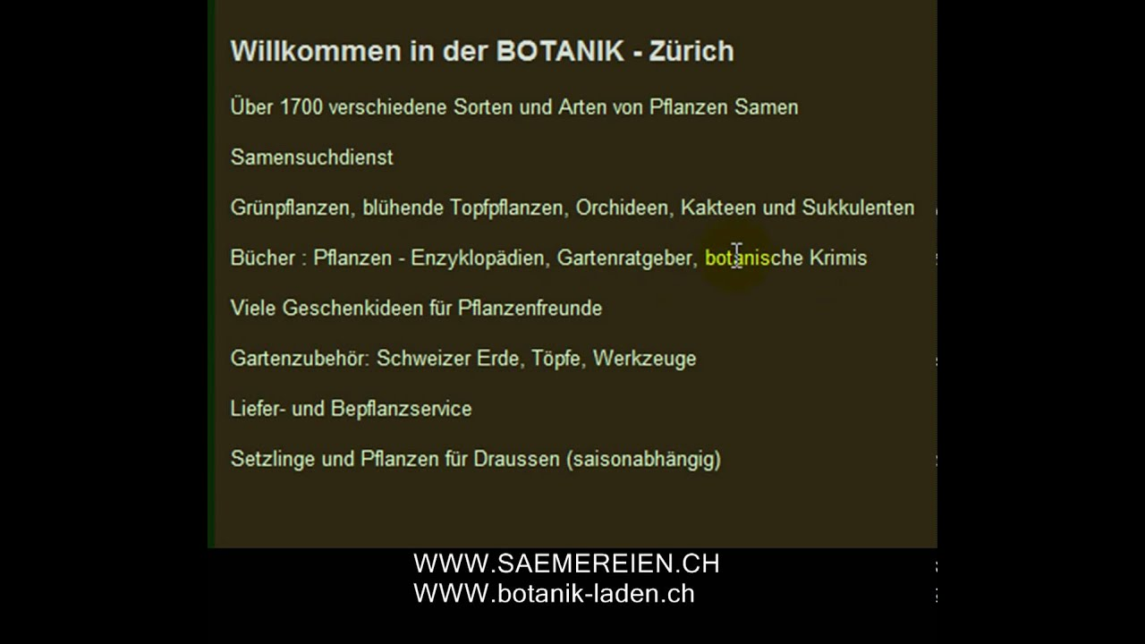 Garten Pflanzen Online Shop Botanik Youtube