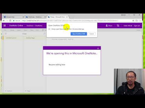 OneNote 2016 Lesson 1 (Office 365) - Opening a cloud OneNote on Desktop application