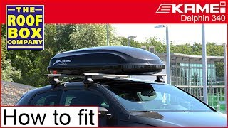 KAMEI roof box Delphin 340 - How to fitting guide
