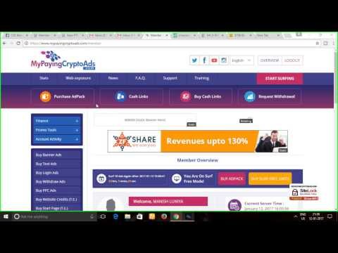 My Paying Crypto Ads Review -( Bitcoin Fresh Add Fund My Deposits) || Buying Adpacks & Updates