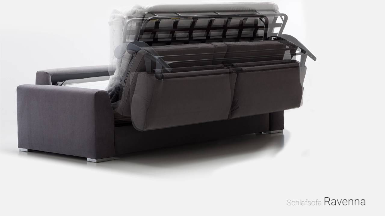 schlafsofa ravenna mit lattenrost youtube. Black Bedroom Furniture Sets. Home Design Ideas