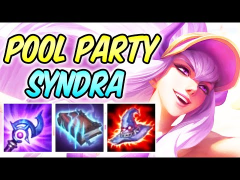 CLEAN POOL PARTY SYNDRA MID Full Burst AP Magic Penetration   Build & Runes   League of Legends