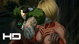 ATTACK ON TITAN (PS4) Levi & Mikasa VS Female Titan - Walkthrough Gameplay Cutscene
