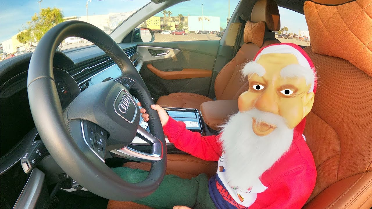 Santa Claus Dima surprises parents with Christmas presents | driving in my car