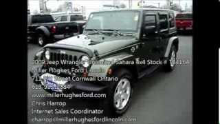 SOLD!!!   Used 2009 Jeep Wrangler Unlimited Sahara 4x4 Stock # T3416A in Cornwall Ontario