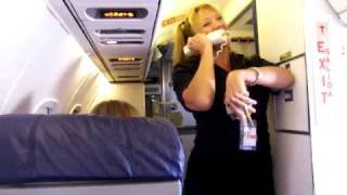 Fantastic Flt. #6196 RIC CVG Funny Flight Attendant Farewell Flight Announcements